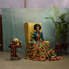 Dress made with traditional wax print for African-Print Fashion Now!