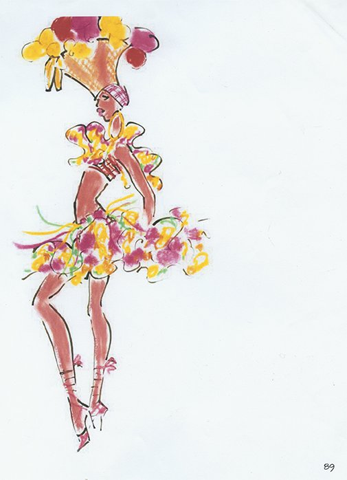 House of Drawing  Created: spring 1992  Courtesy of Oscar de la Renta Archive.