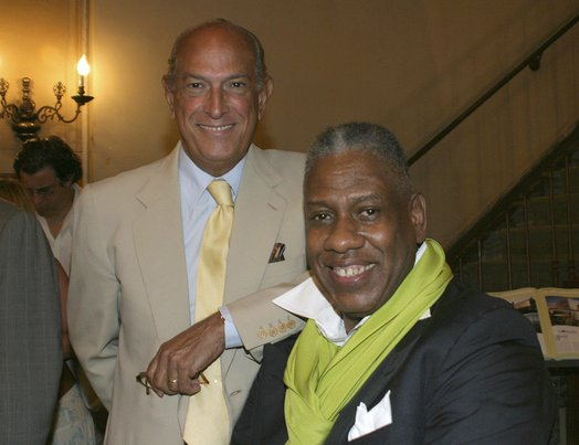 André Leon Talley and Oscar de la Renta at Book Signing, Rizzoli Books, New York