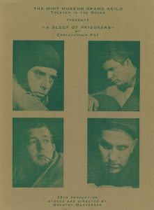 Sleep of Prisoners playbill. Four photos of different men