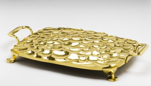 Hand-Wrought Brass Tray