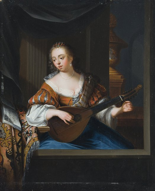 Lady with a Mandola