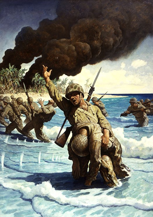 Untitled (Marines Landing on Beach)