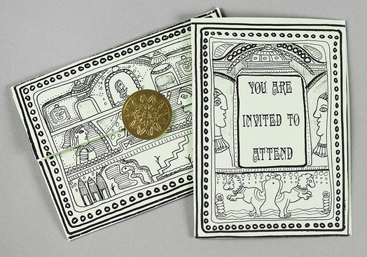 """A Rad Dude Named Ramesses"" Play Invitation and Envelope"