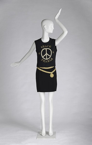 """""""Peace and Pearls"""" Sleeveless Top and Cartoon Couture Black Skirt</p>"""