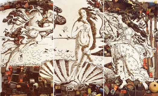 The Birth of Venus, After Botticelli (Pictures of Junk)