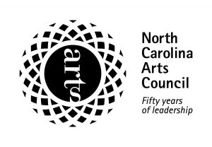 North Carolina Arts Council logo. circle logo resembling the sun with the word 'arts' in the middle