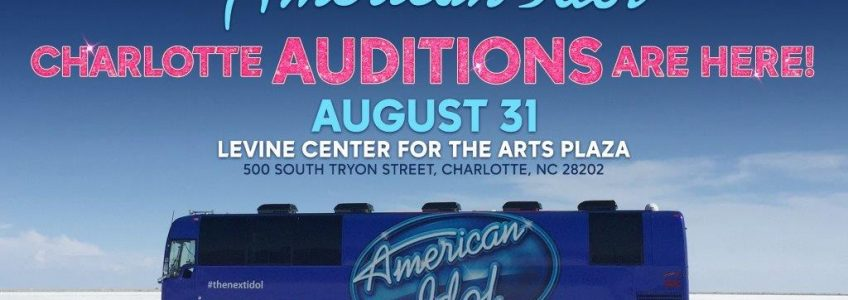 American Idol Poster. Charlotte Auditions August 31