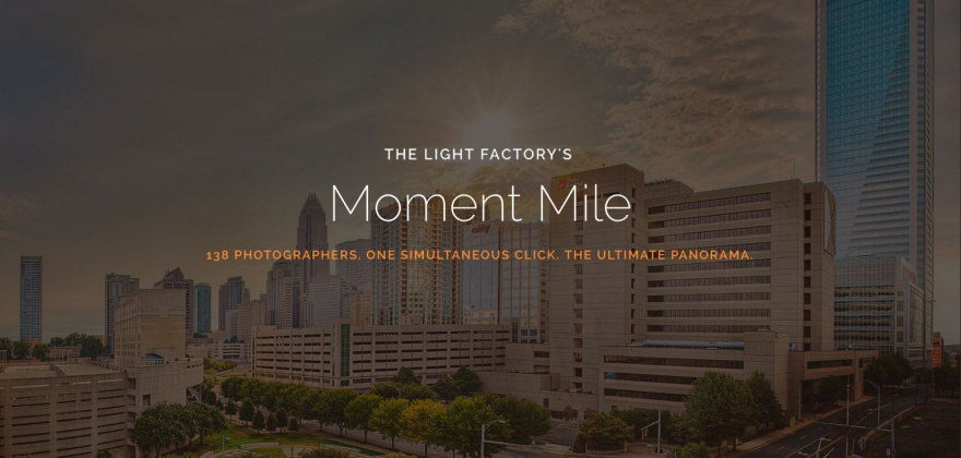 Poster for the Light Factory's 'Moment Mile'