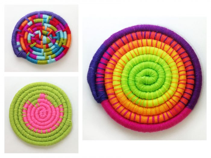 Coiled fabrics to be used in basket making