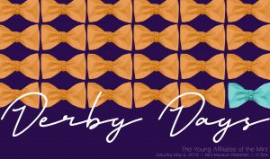 Derby Days graphic of repeating bow-tie pattern
