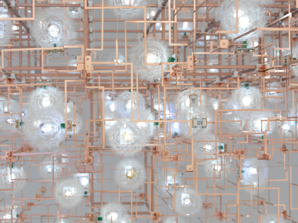Studio Drift. Fragile Future Chandelier (Detail)