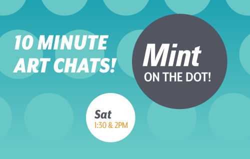 Mint on the dot Logo. Saturdays at 1:30 and 2
