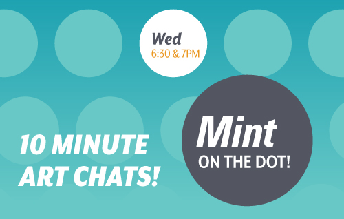 Mint on the Dot logo. Wednesdays at 6:30 and 7