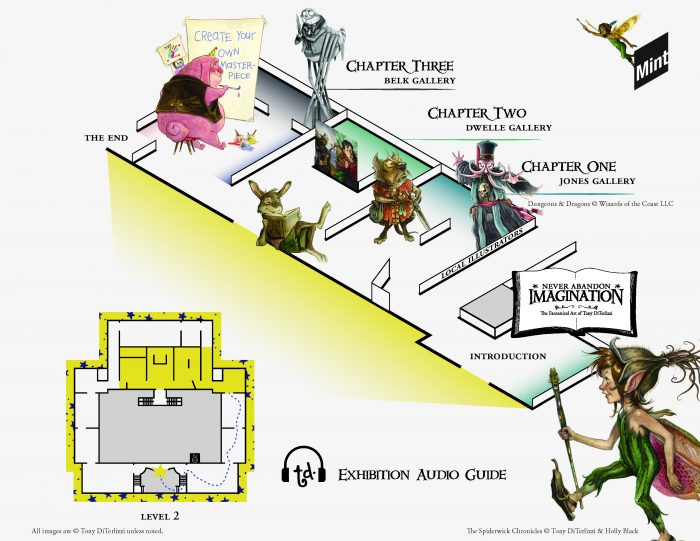 Audio Guide Map for Never Abandon Imagination