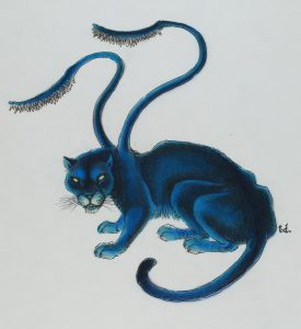 A mythical creature resembling a panther. It has two tentacles coming out of its back.