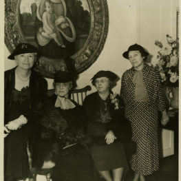 A postcard of the founding women of The Mint Museum