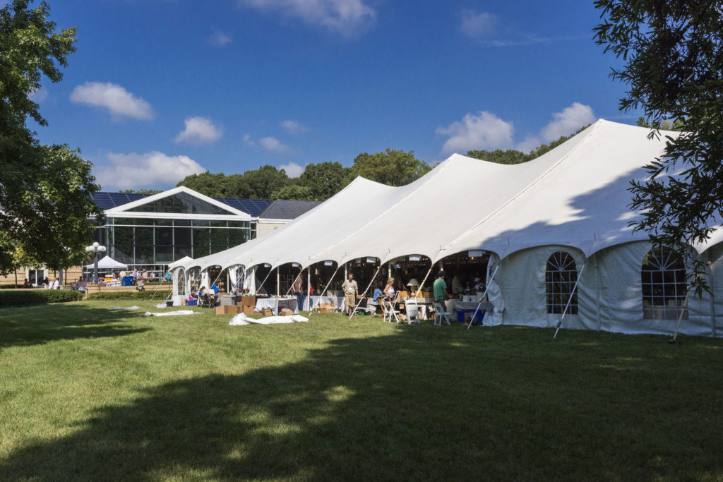 Mint Museum Randolph's LAwn is the perfect outdoor spot to have a tented event
