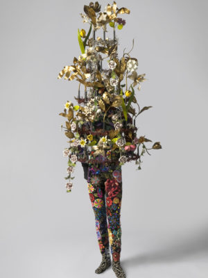 Nick Cave (American, 1959–). Soundsuit, 2007, metal, beads, sequins, metal Victorian flowers. Museum Purchase: Founders' Circle Annual Cause. 2009.19.1A-OOOOO. © Nick Cave