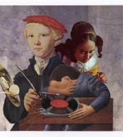 Untitled (figures and record player)